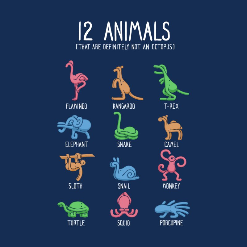 12 Animals (That are Definitely Not an Octopus) by Gyledesigns' Artist Shop