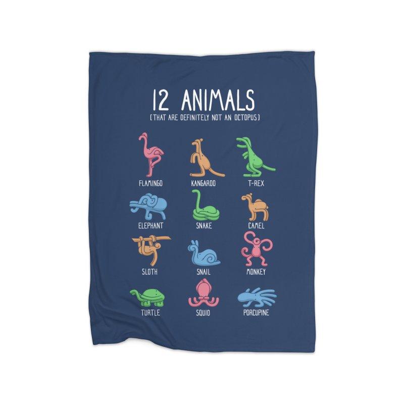 12 Animals (That are Definitely Not an Octopus) Home Fleece Blanket Blanket by Gyledesigns' Artist Shop