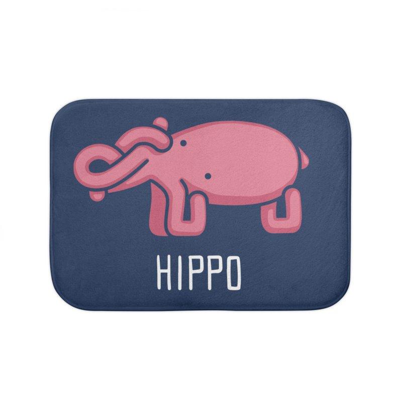 Hippo (Not an Octopus) Home Bath Mat by Gyledesigns' Artist Shop