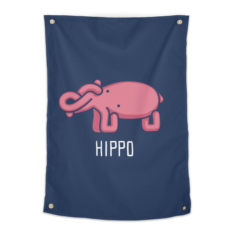 Hippo (Not an Octopus) Home Tapestry by Gyledesigns' Artist Shop