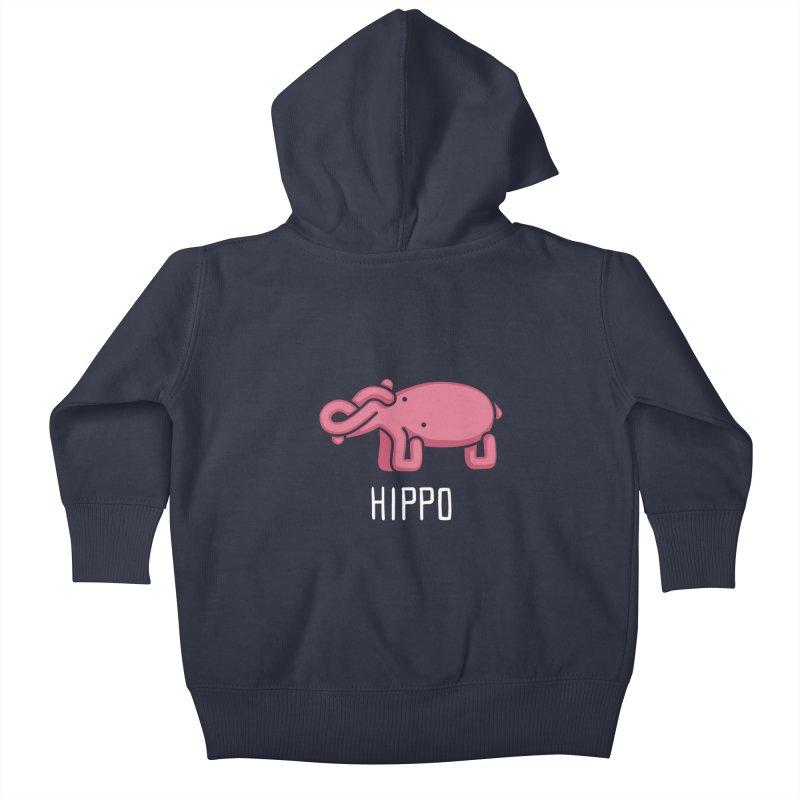 Hippo (Not an Octopus) Kids Baby Zip-Up Hoody by Gyledesigns' Artist Shop