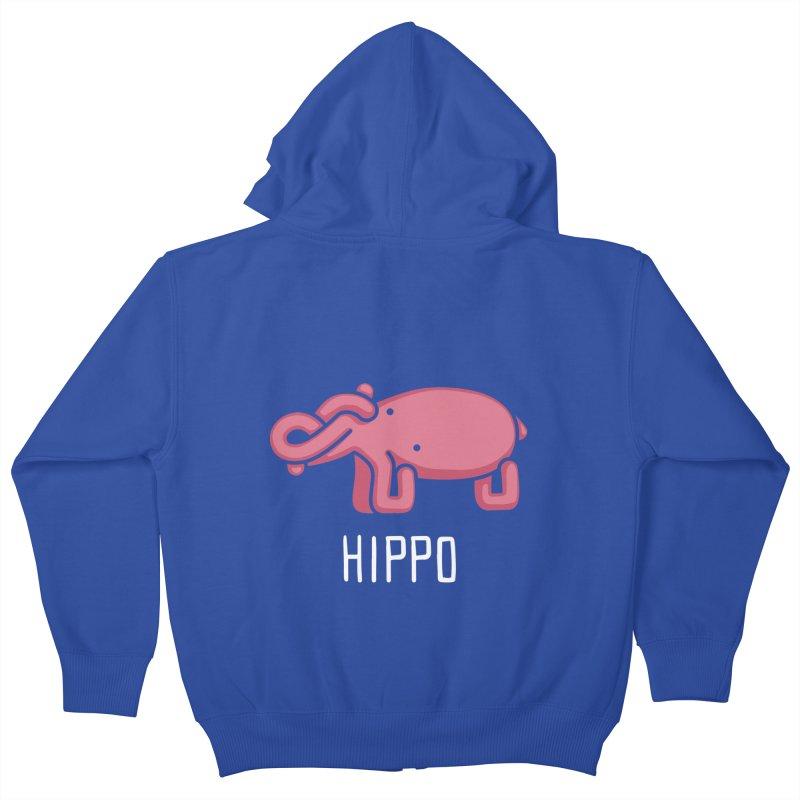Hippo (Not an Octopus) Kids Zip-Up Hoody by Gyledesigns' Artist Shop
