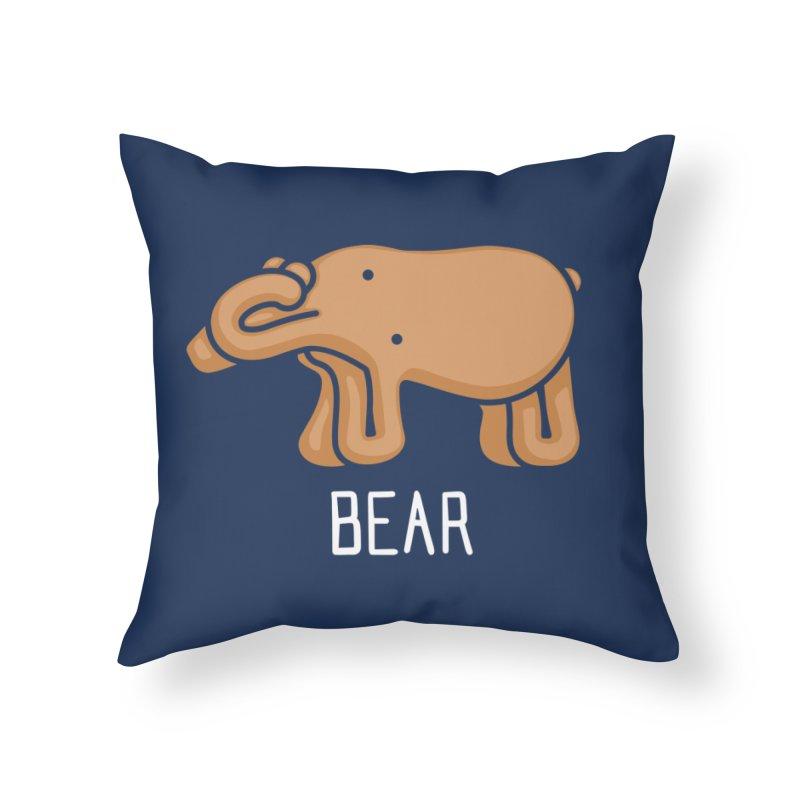 Bear (Not an Octopus) Home Throw Pillow by Gyledesigns' Artist Shop