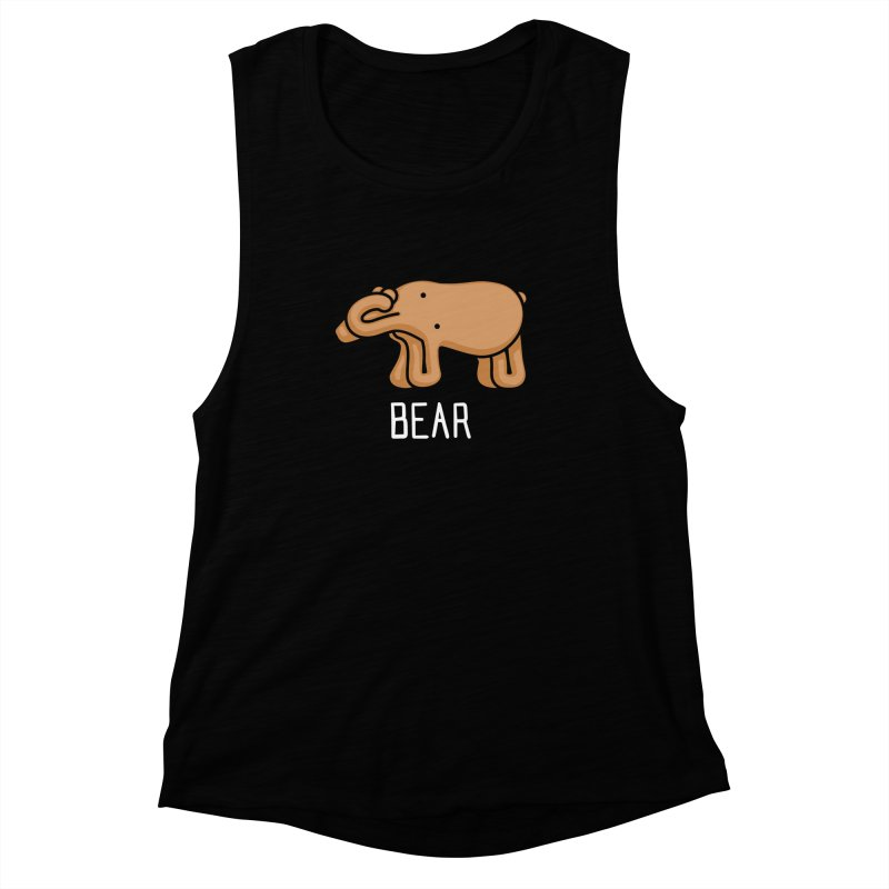 Bear (Not an Octopus) Women's Muscle Tank by Gyledesigns' Artist Shop