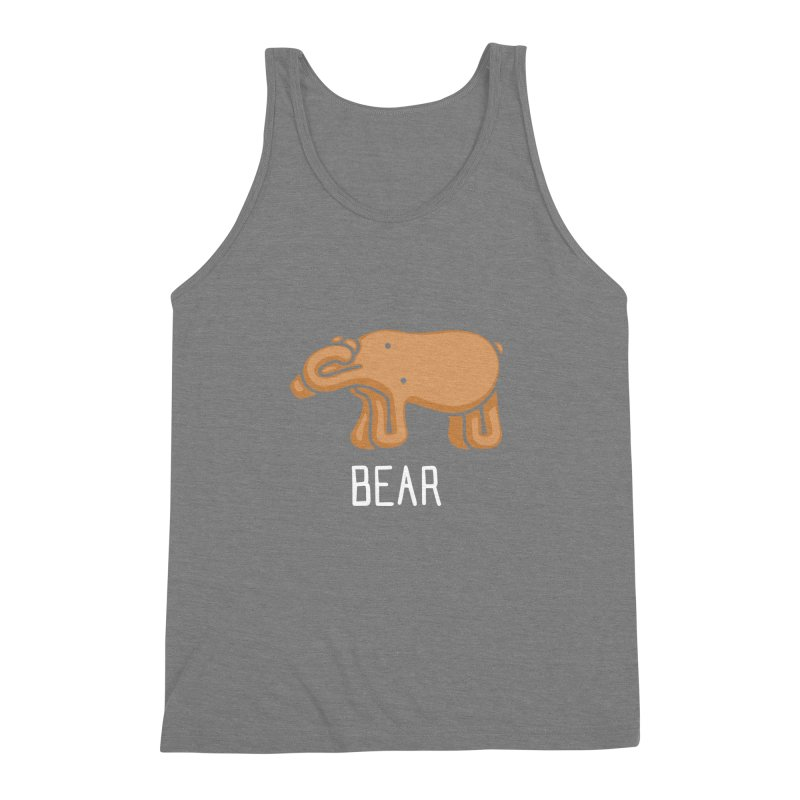 Bear (Not an Octopus) Men's Triblend Tank by Gyledesigns' Artist Shop