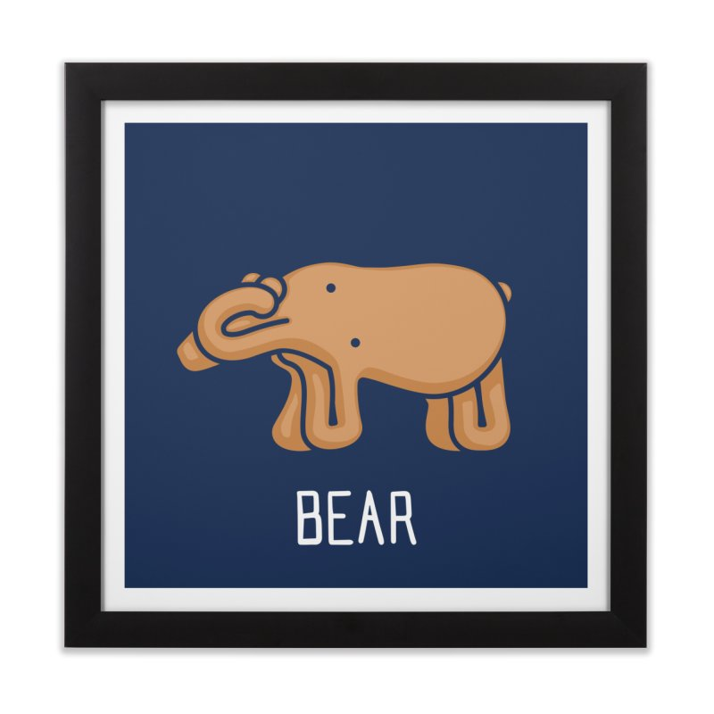 Bear (Not an Octopus) Home Framed Fine Art Print by Gyledesigns' Artist Shop