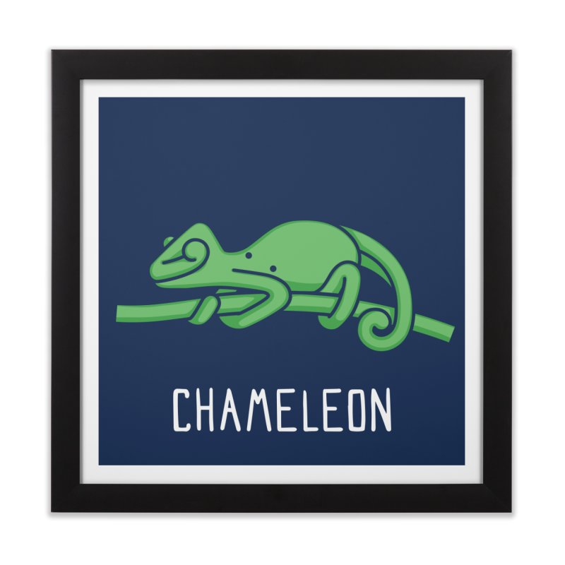 Chameleon (Not an Octopus) Home Framed Fine Art Print by Gyledesigns' Artist Shop