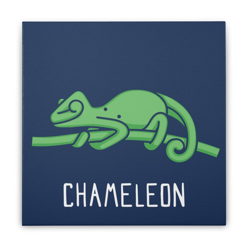 Chameleon (Not an Octopus) Home Stretched Canvas by Gyledesigns' Artist Shop