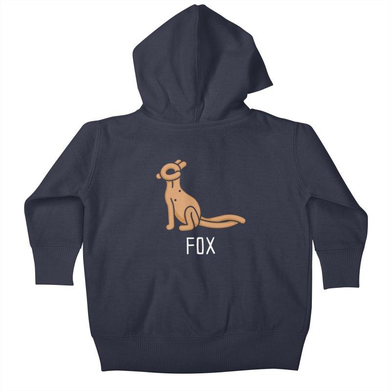 Fox (Not an Octopus) Kids Baby Zip-Up Hoody by Gyledesigns' Artist Shop