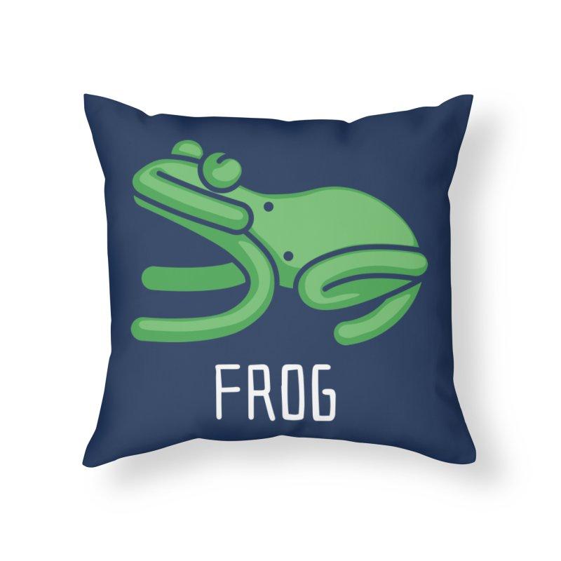 Frog (Not an Octopus) Home Throw Pillow by Gyledesigns' Artist Shop