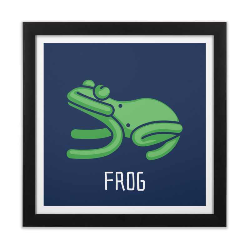 Frog (Not an Octopus) Home Framed Fine Art Print by Gyledesigns' Artist Shop