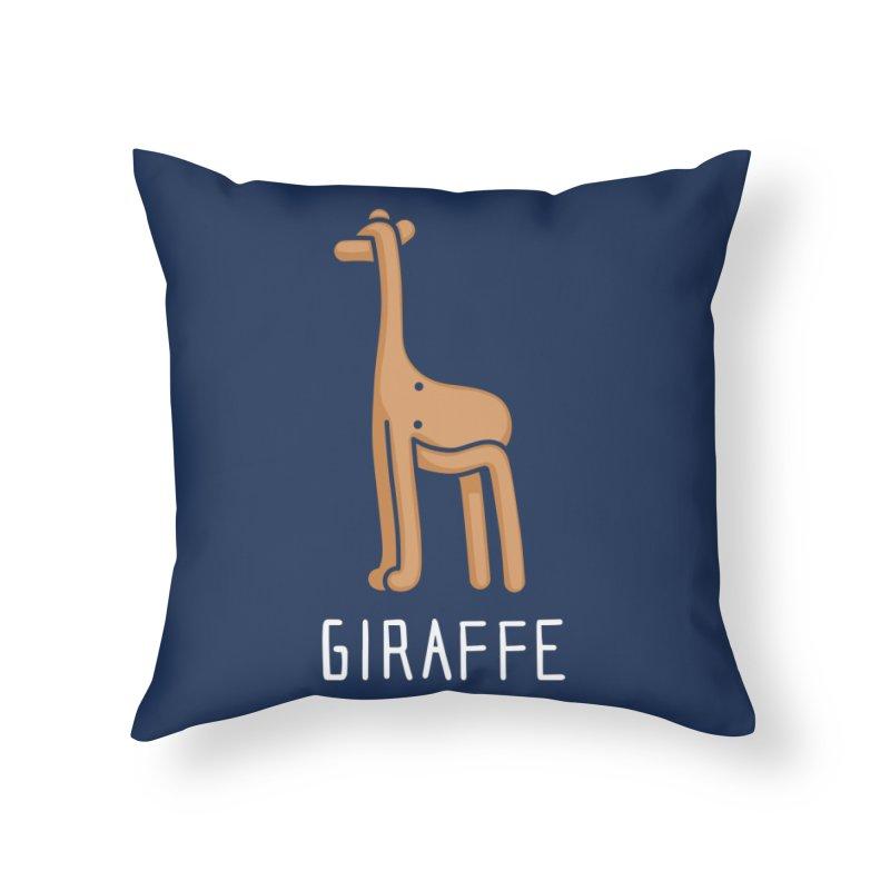 Giraffe (Not an Octopus) Home Throw Pillow by Gyledesigns' Artist Shop