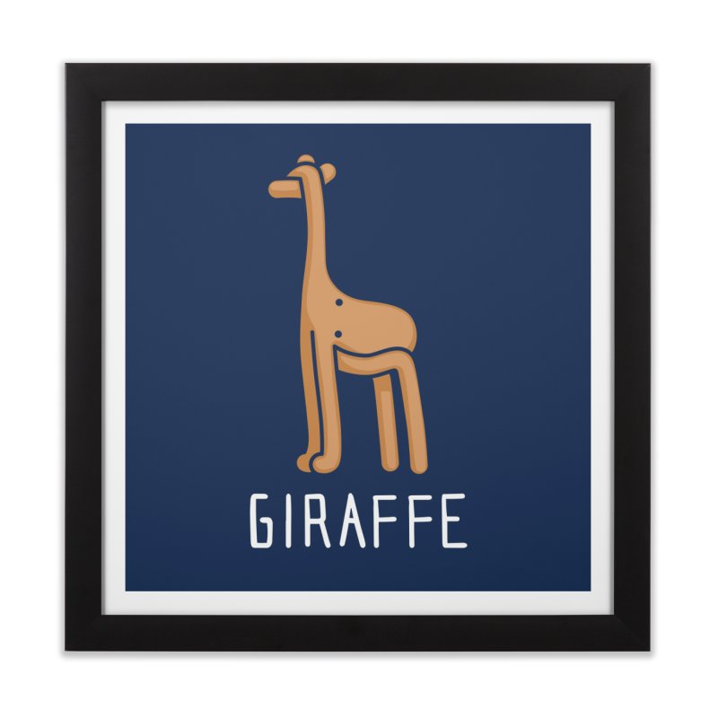 Giraffe (Not an Octopus) Home Framed Fine Art Print by Gyledesigns' Artist Shop