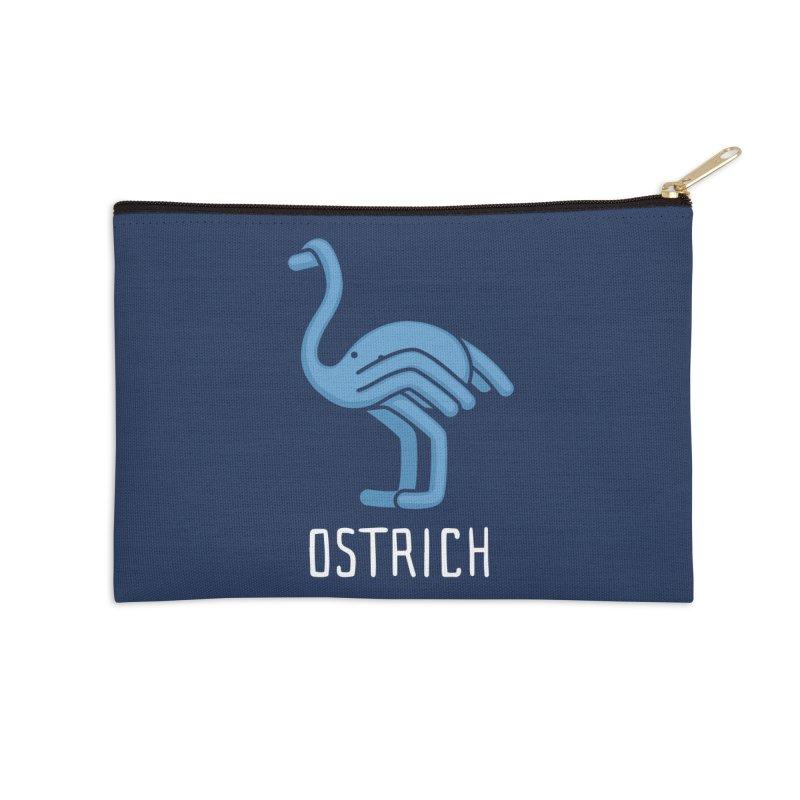 Ostrich (Not an Octopus) Accessories Zip Pouch by Gyledesigns' Artist Shop