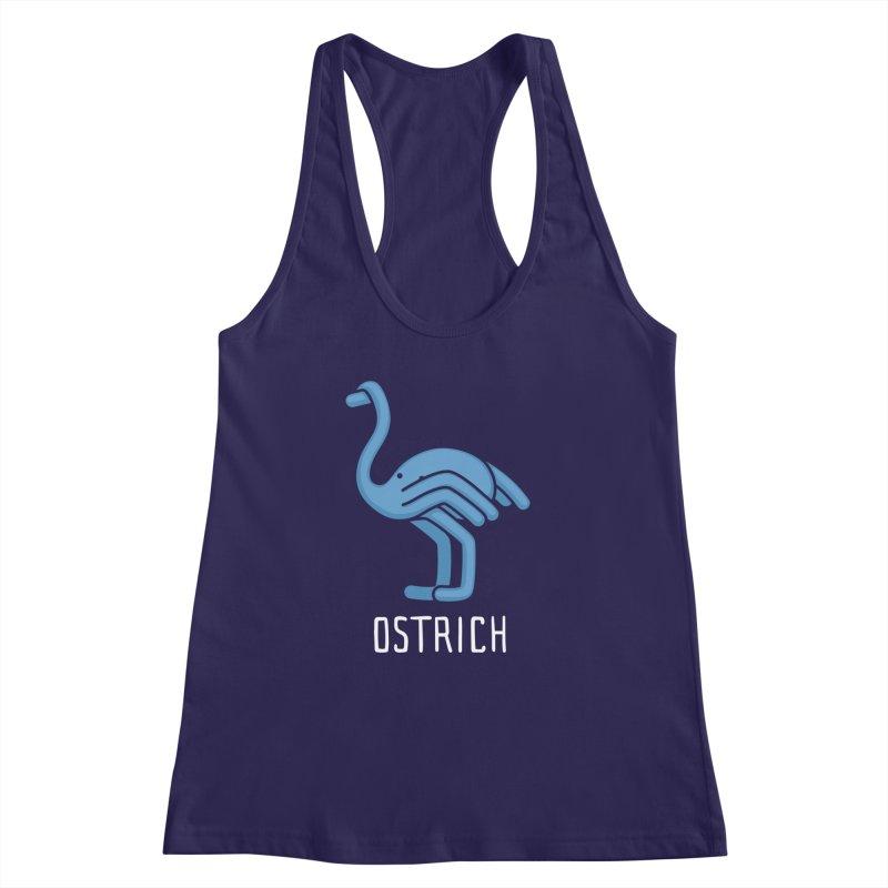Ostrich (Not an Octopus) Women's Racerback Tank by Gyledesigns' Artist Shop
