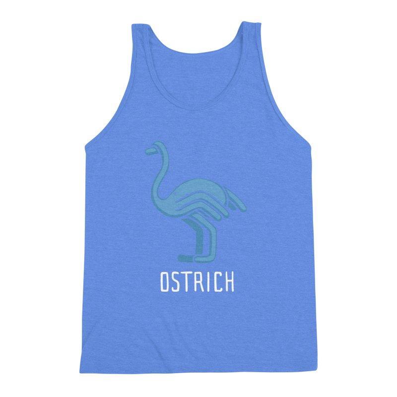Ostrich (Not an Octopus) Men's Triblend Tank by Gyledesigns' Artist Shop