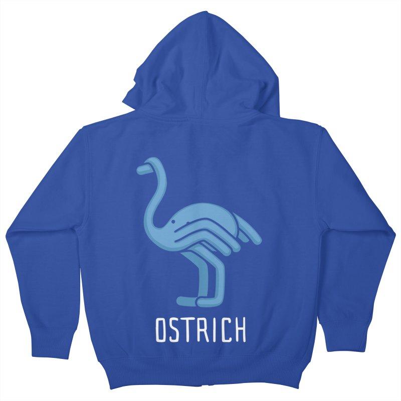 Ostrich (Not an Octopus) Kids Zip-Up Hoody by Gyledesigns' Artist Shop