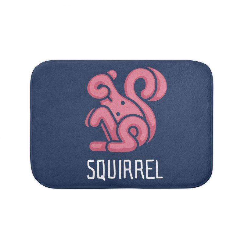Squirrel (Not an Octopus) Home Bath Mat by Gyledesigns' Artist Shop
