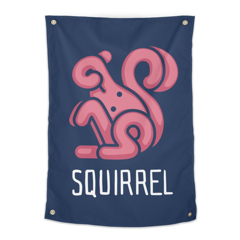 Squirrel (Not an Octopus) Home Tapestry by Gyledesigns' Artist Shop
