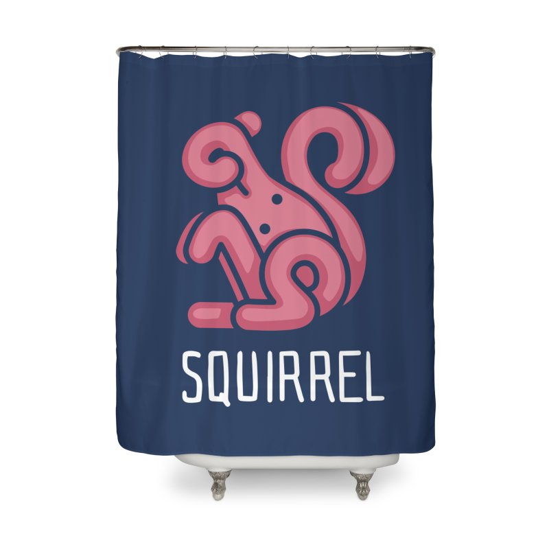 Squirrel (Not an Octopus) Home Shower Curtain by Gyledesigns' Artist Shop
