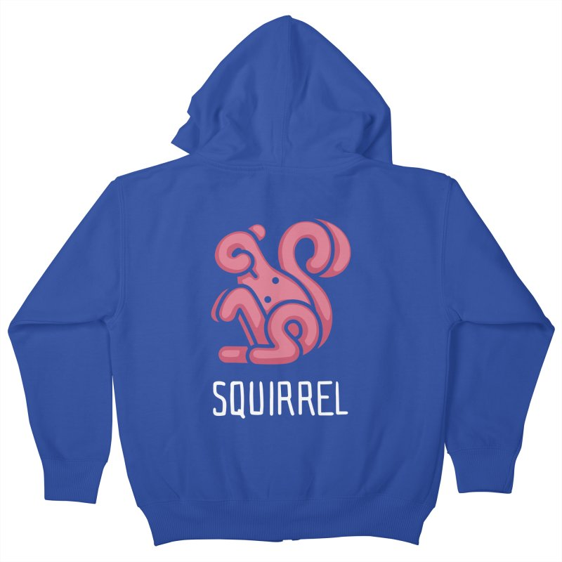 Squirrel (Not an Octopus) Kids Zip-Up Hoody by Gyledesigns' Artist Shop