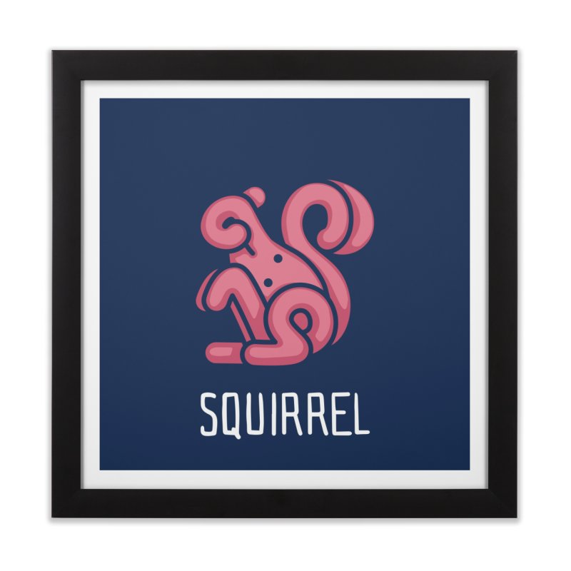 Squirrel (Not an Octopus) Home Framed Fine Art Print by Gyledesigns' Artist Shop