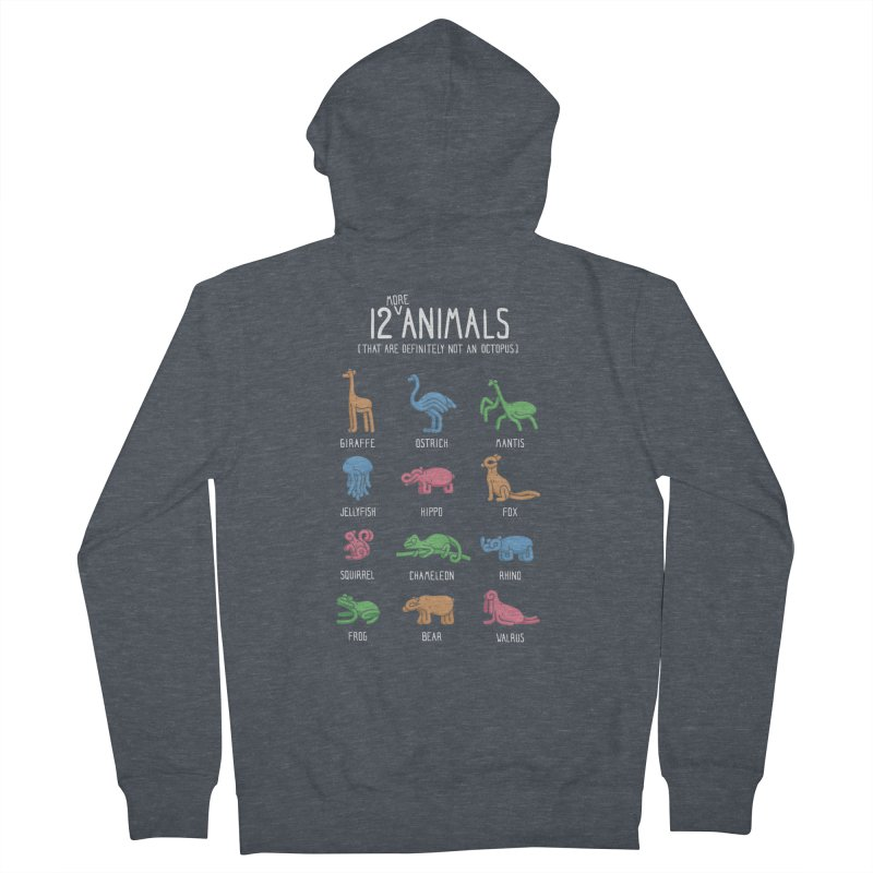 12 MORE Animals (That are Definitely Not an Octopus) Men's French Terry Zip-Up Hoody by Gyledesigns' Artist Shop