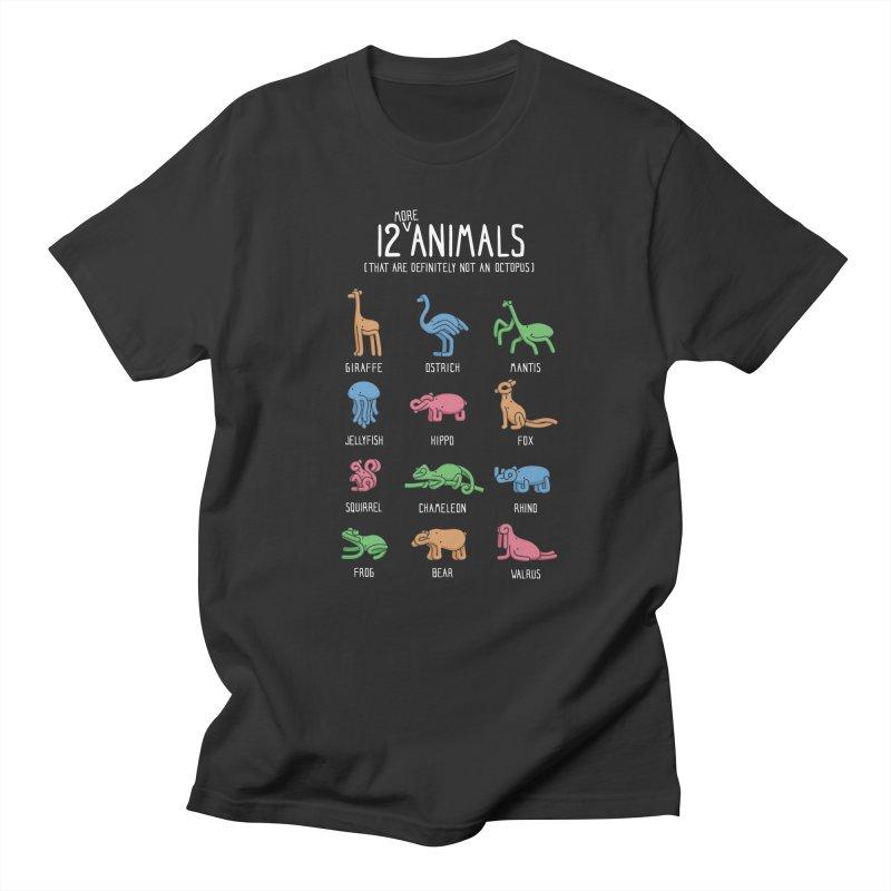 12 MORE Animals (That are Definitely Not an Octopus) Men's Regular T-Shirt by Gyledesigns' Artist Shop