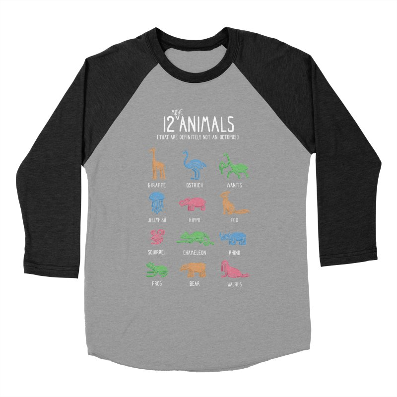 12 MORE Animals (That are Definitely Not an Octopus) Men's Baseball Triblend T-Shirt by Gyledesigns' Artist Shop