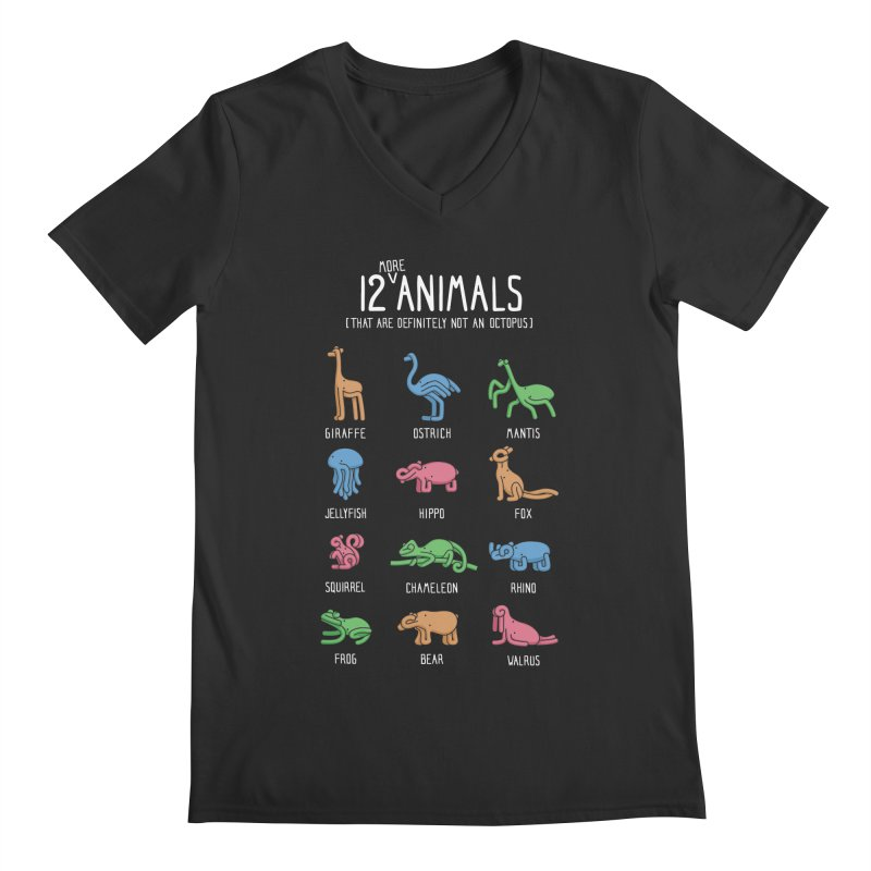 12 MORE Animals (That are Definitely Not an Octopus) Men's Regular V-Neck by Gyledesigns' Artist Shop