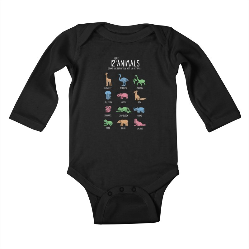 12 MORE Animals (That are Definitely Not an Octopus) Kids Baby Longsleeve Bodysuit by Gyledesigns' Artist Shop