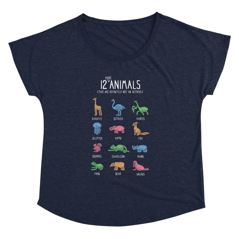 12 MORE Animals (That are Definitely Not an Octopus) Women's Dolman Scoop Neck by Gyledesigns' Artist Shop