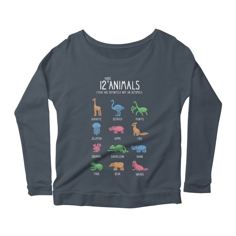 12 MORE Animals (That are Definitely Not an Octopus) Women's Scoop Neck Longsleeve T-Shirt by Gyledesigns' Artist Shop