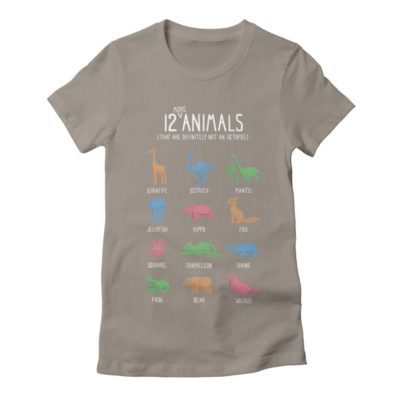 12 MORE Animals (That are Definitely Not an Octopus) Women's Fitted T-Shirt by Gyledesigns' Artist Shop