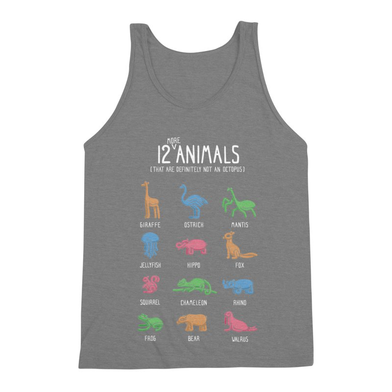 12 MORE Animals (That are Definitely Not an Octopus) Men's Triblend Tank by Gyledesigns' Artist Shop