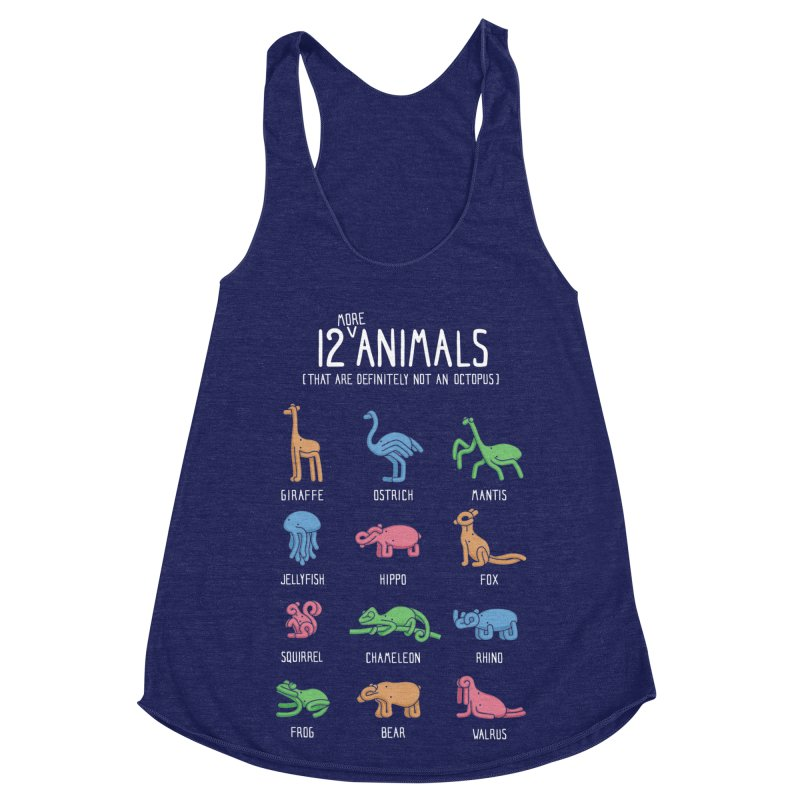 12 MORE Animals (That are Definitely Not an Octopus) Women's Racerback Triblend Tank by Gyledesigns' Artist Shop