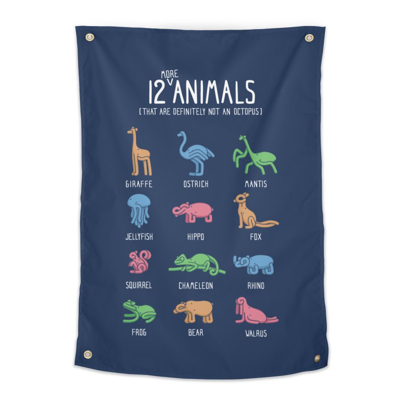 12 MORE Animals (That are Definitely Not an Octopus) Home Tapestry by Gyledesigns' Artist Shop