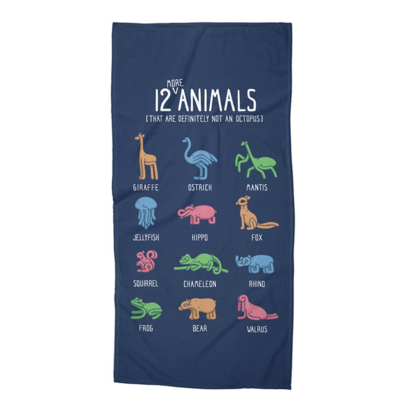 12 MORE Animals (That are Definitely Not an Octopus) Accessories Beach Towel by Gyledesigns' Artist Shop
