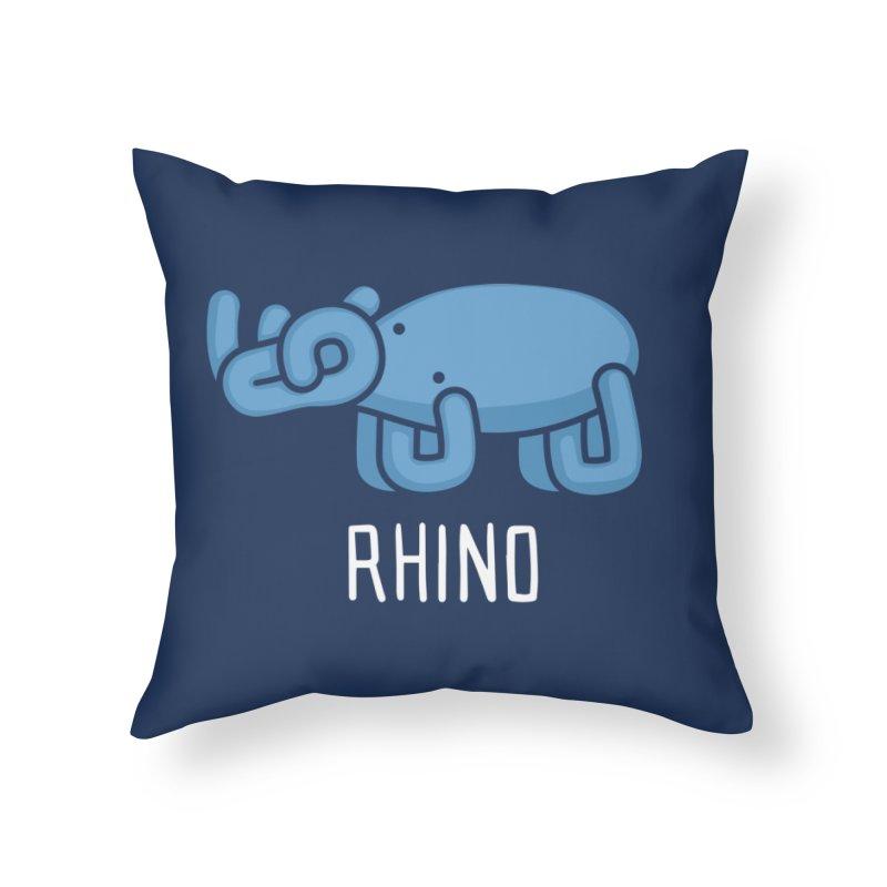 Rhino (Not an Octopus) Home Throw Pillow by Gyledesigns' Artist Shop