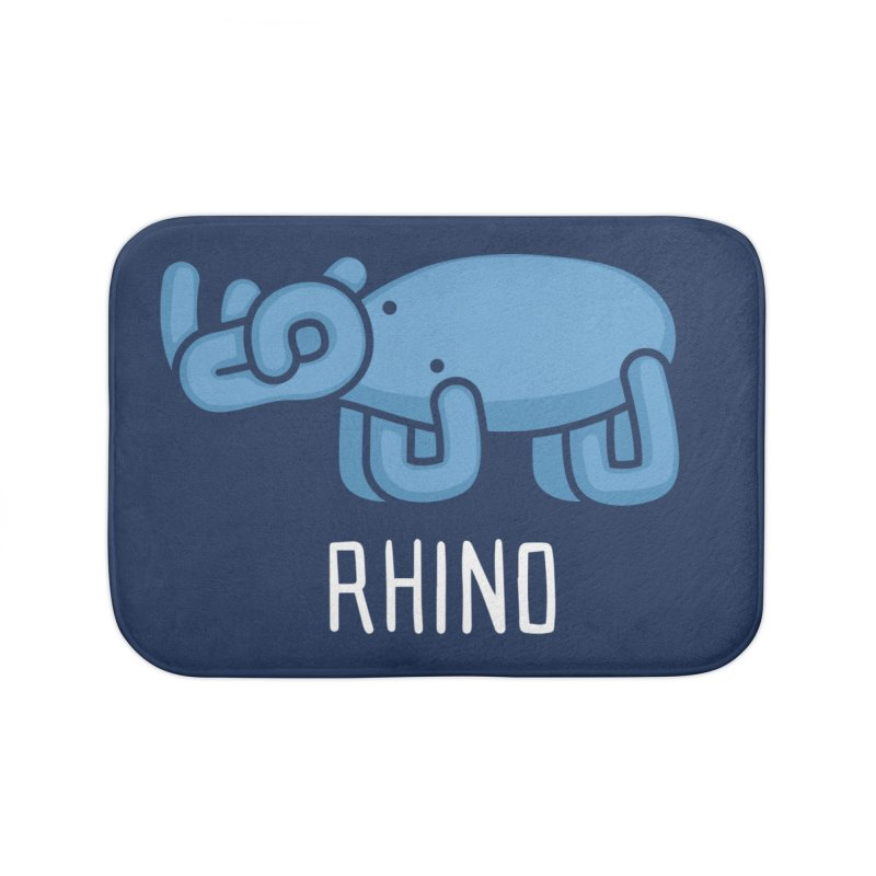 Rhino (Not an Octopus) Home Bath Mat by Gyledesigns' Artist Shop