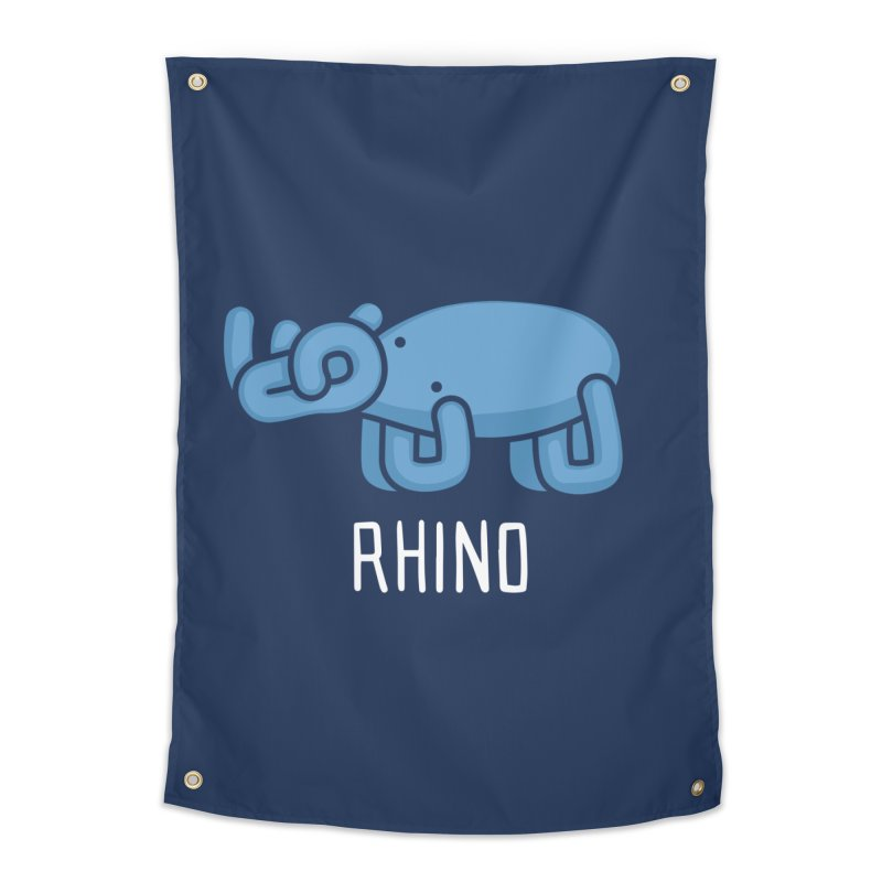 Rhino (Not an Octopus) Home Tapestry by Gyledesigns' Artist Shop
