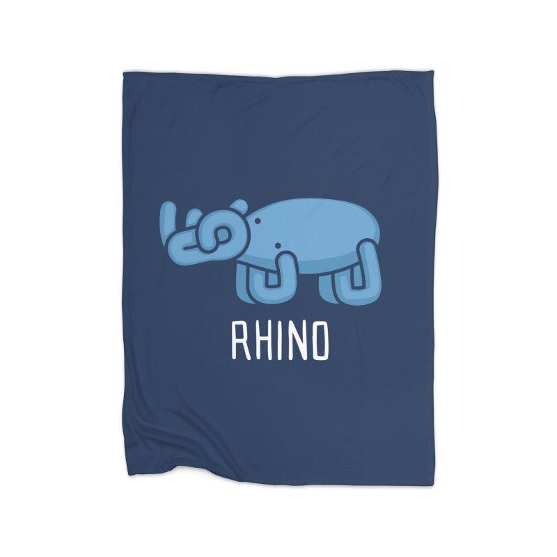 Rhino (Not an Octopus) Home Blanket by Gyledesigns' Artist Shop