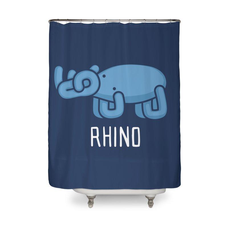 Rhino (Not an Octopus) Home Shower Curtain by Gyledesigns' Artist Shop