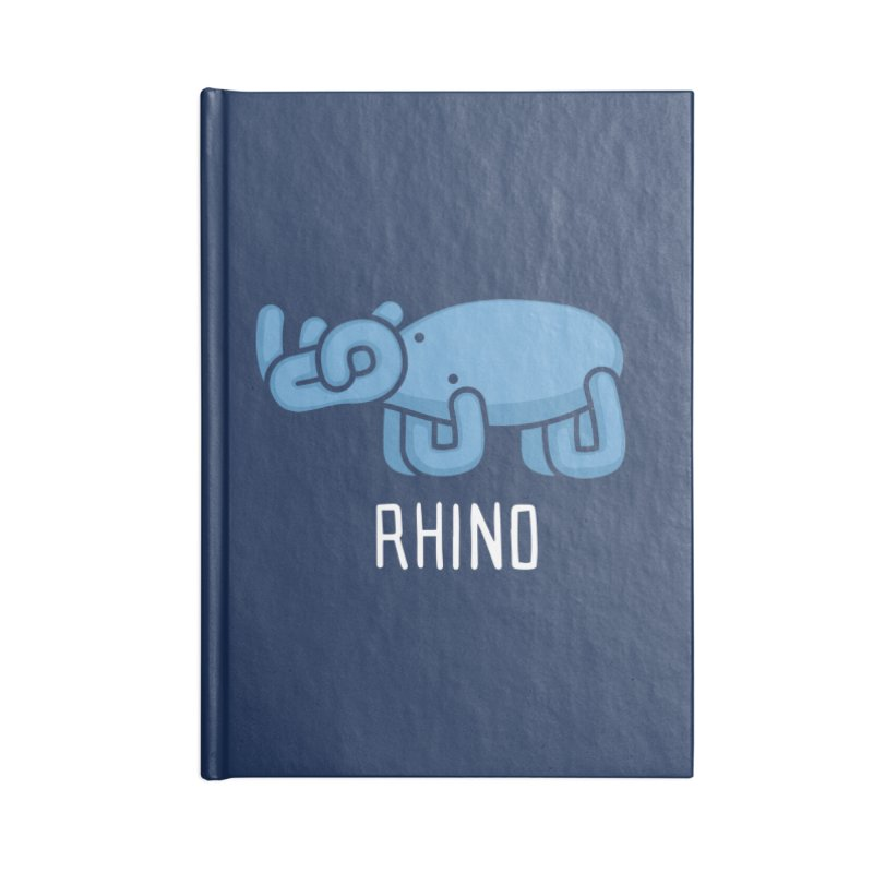 Rhino (Not an Octopus) Accessories Notebook by Gyledesigns' Artist Shop
