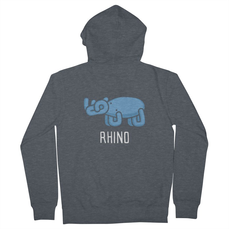 Rhino (Not an Octopus) Men's Zip-Up Hoody by Gyledesigns' Artist Shop