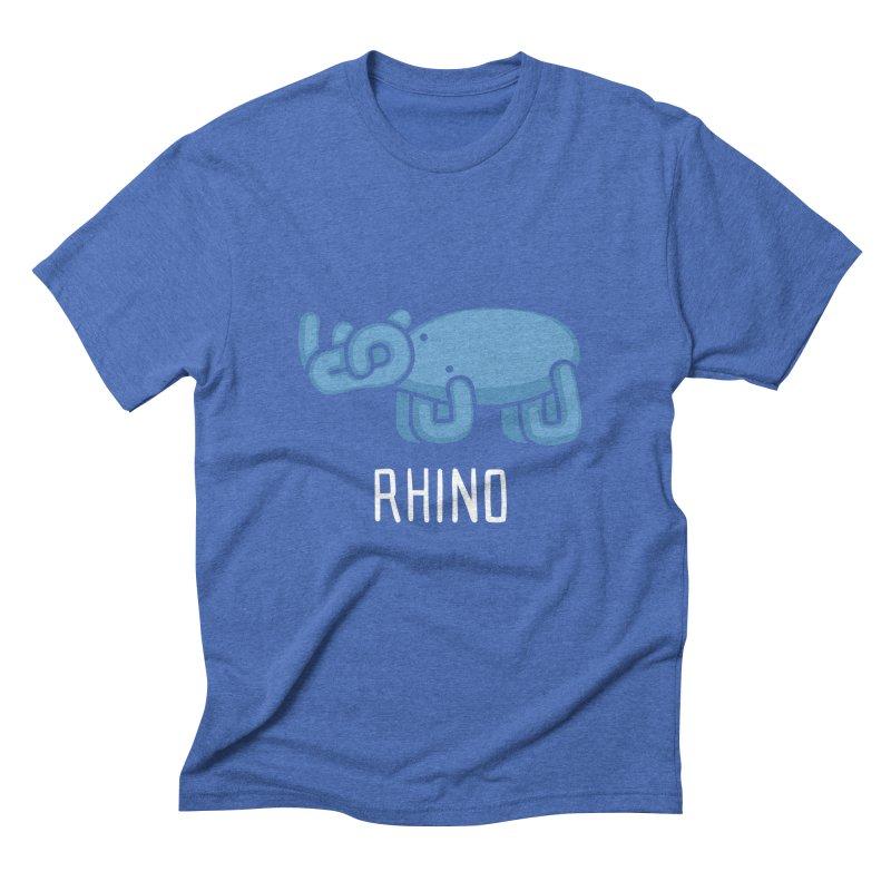 Rhino (Not an Octopus) Men's Triblend T-shirt by Gyledesigns' Artist Shop