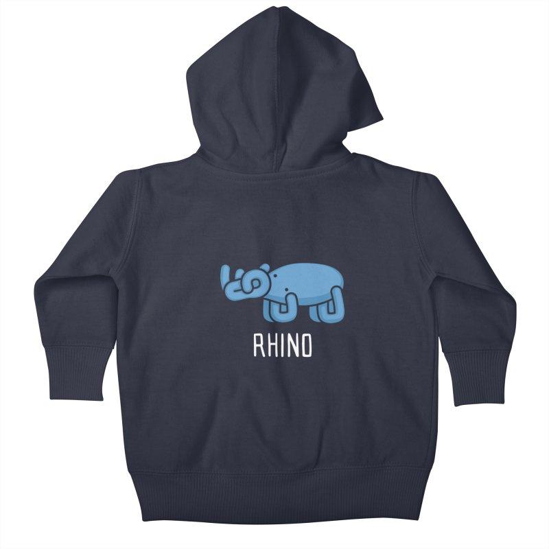 Rhino (Not an Octopus) Kids Baby Zip-Up Hoody by Gyledesigns' Artist Shop