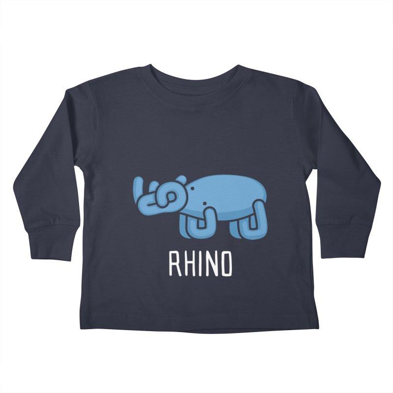 Rhino (Not an Octopus) Kids Toddler Longsleeve T-Shirt by Gyledesigns' Artist Shop