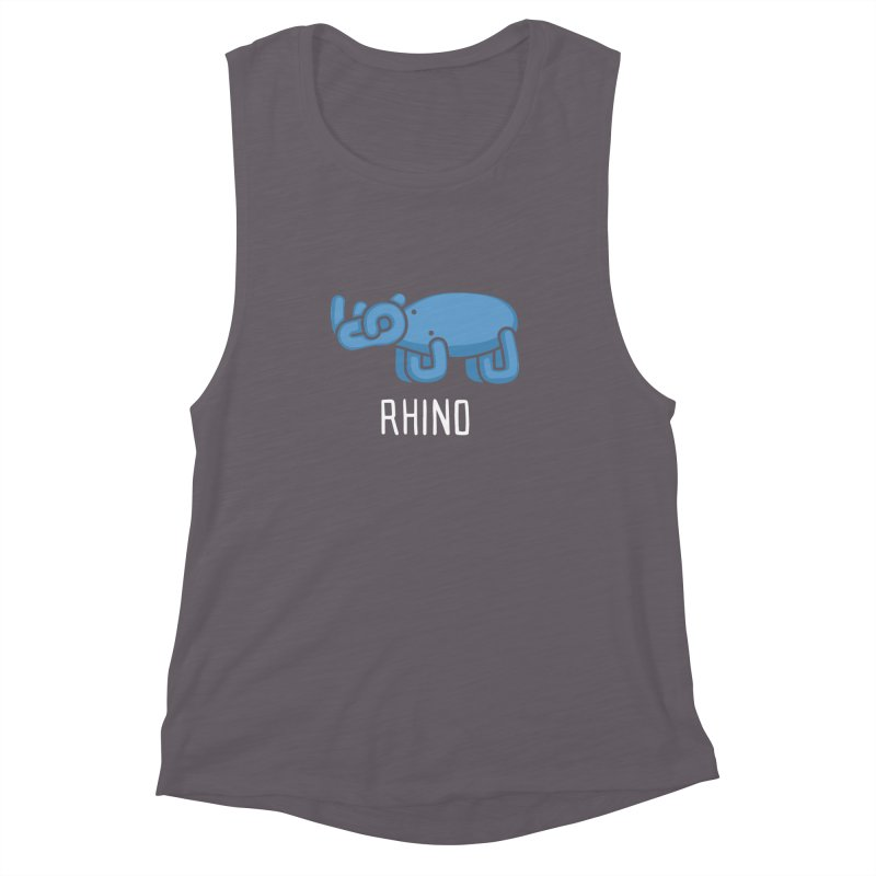 Rhino (Not an Octopus) Women's Muscle Tank by Gyledesigns' Artist Shop