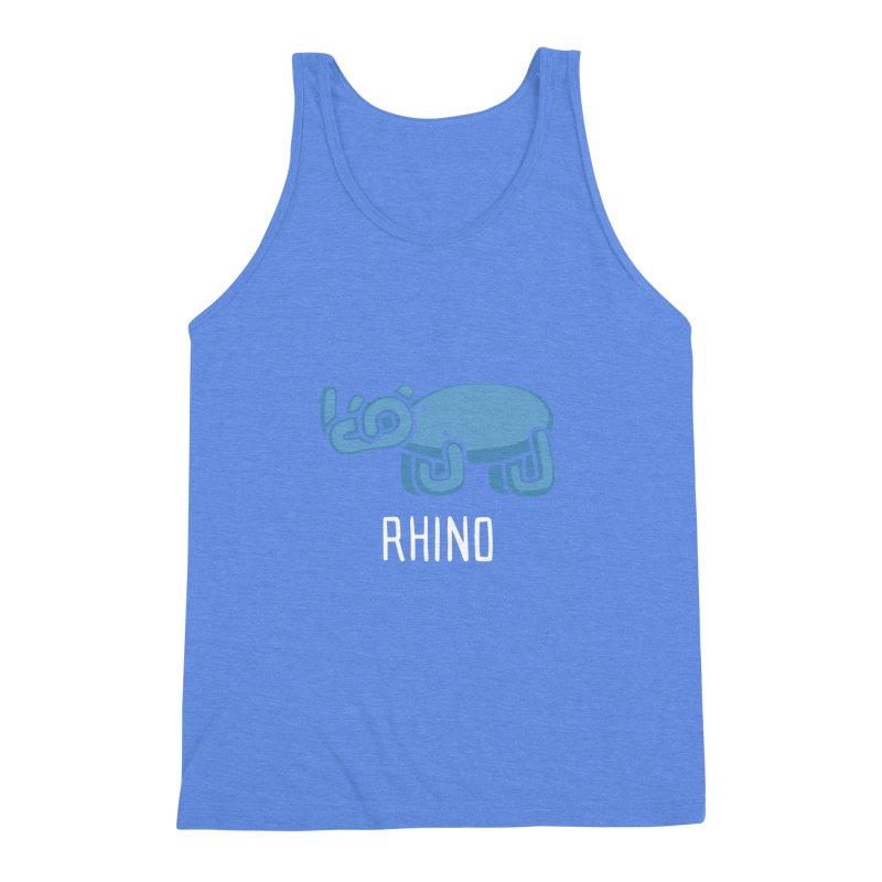 Rhino (Not an Octopus) Men's Triblend Tank by Gyledesigns' Artist Shop